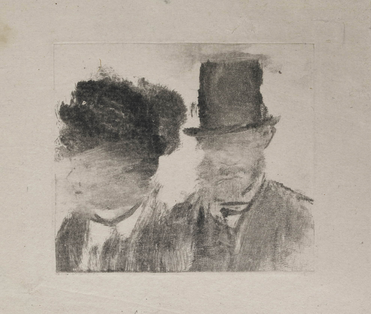 Edgar Degas: Heads of a Man and a Woman, cognate, British Museum 1949,0411.2422