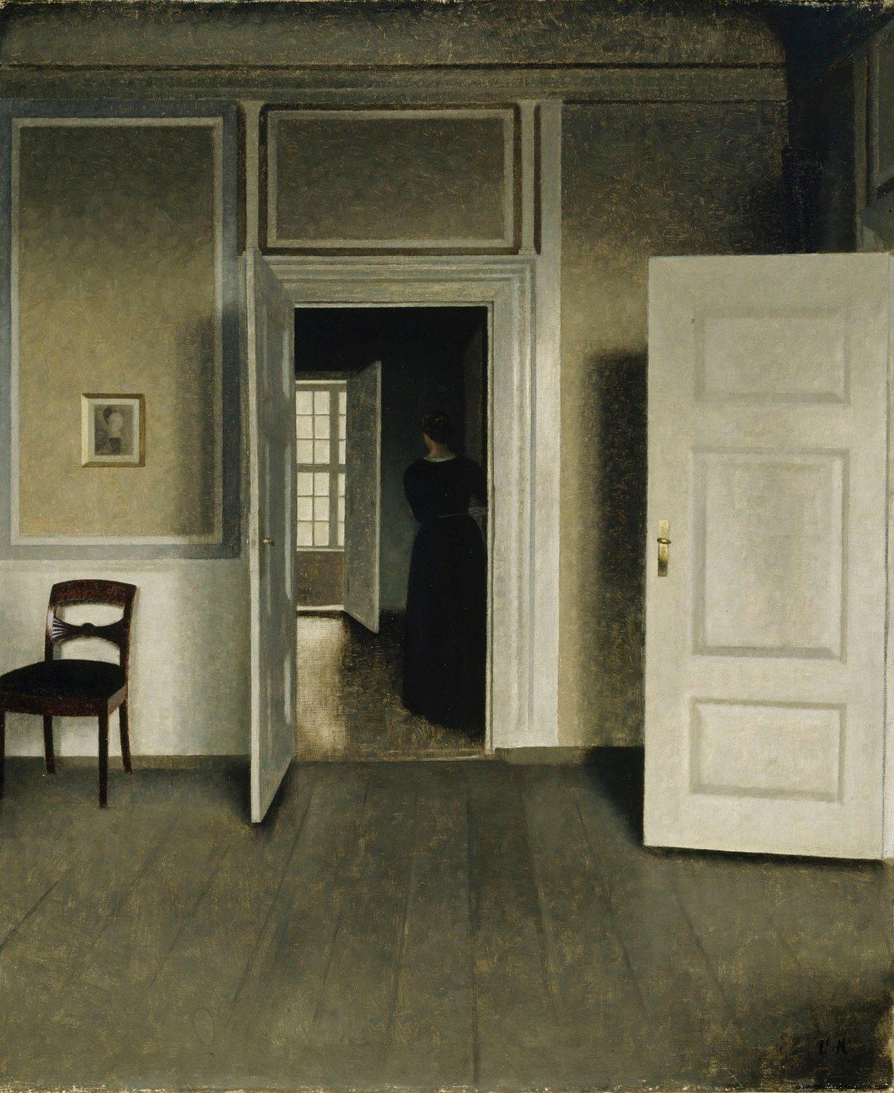 Vilhelm Hammershoi: Interior Strandgade 30