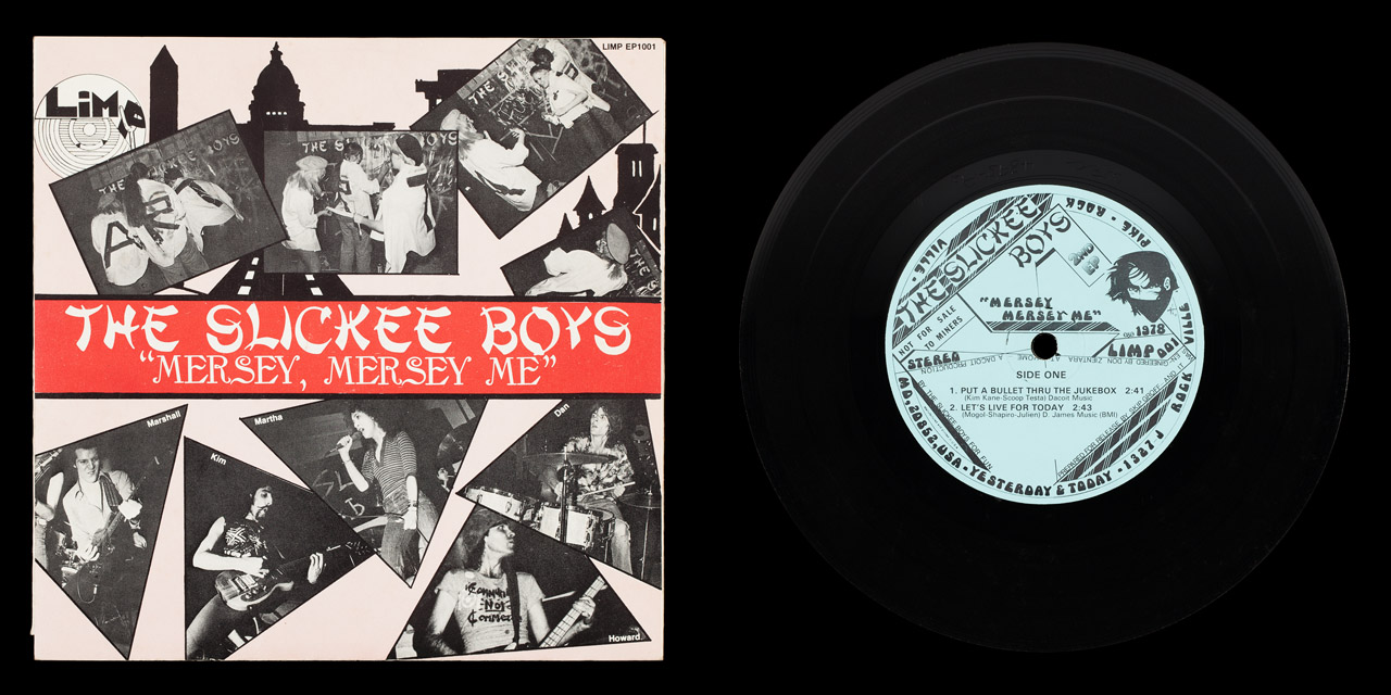 Slickee Boys Mersey Mersey Me second press front cover and vinyl on Limp Records