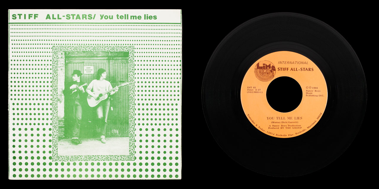 Stiff All Stars You Tell Me Lies front on Limp Records