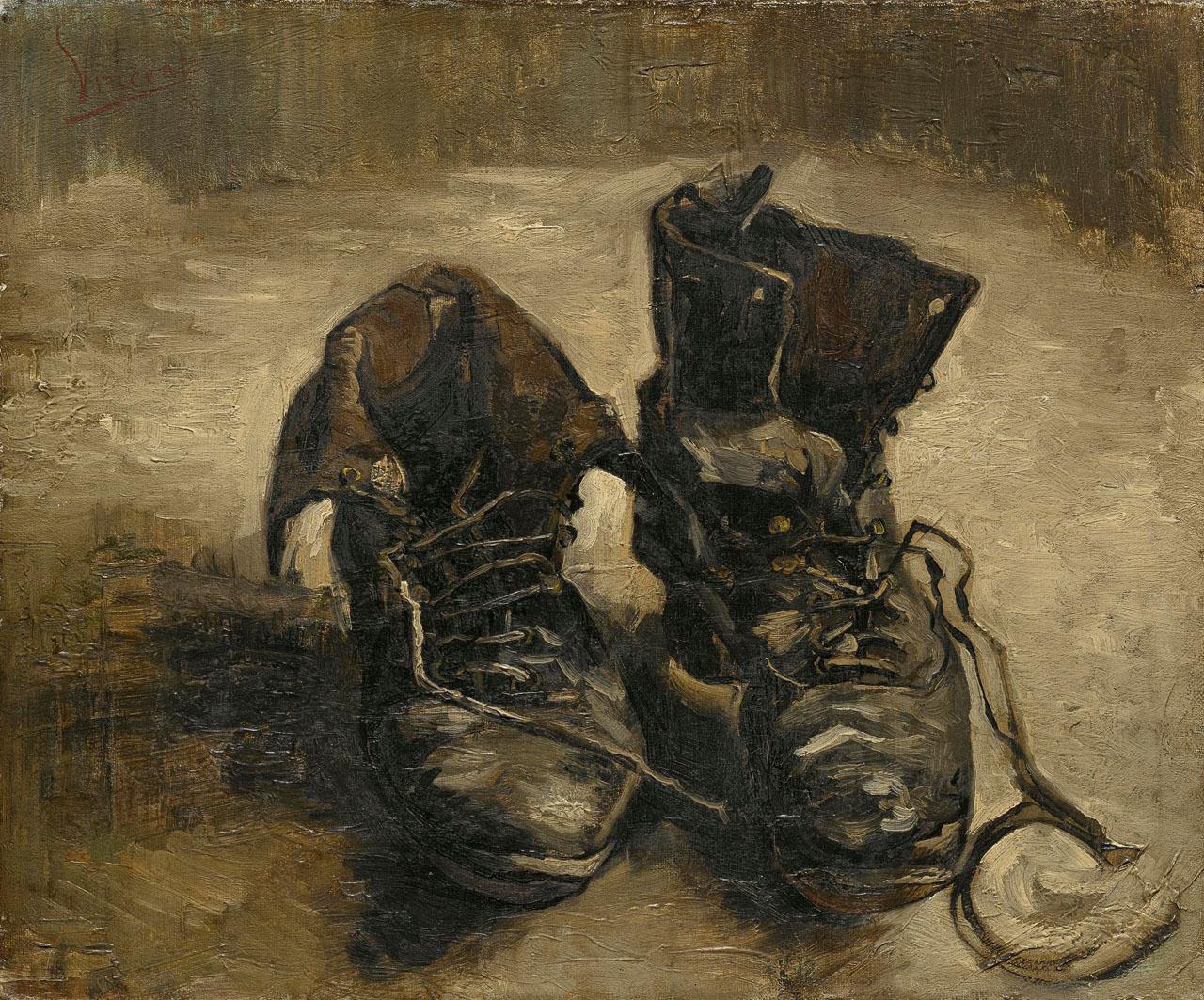 Vincent van Gogh: Shoes (F255, JH1124), Van Gogh Museum s0011V1962